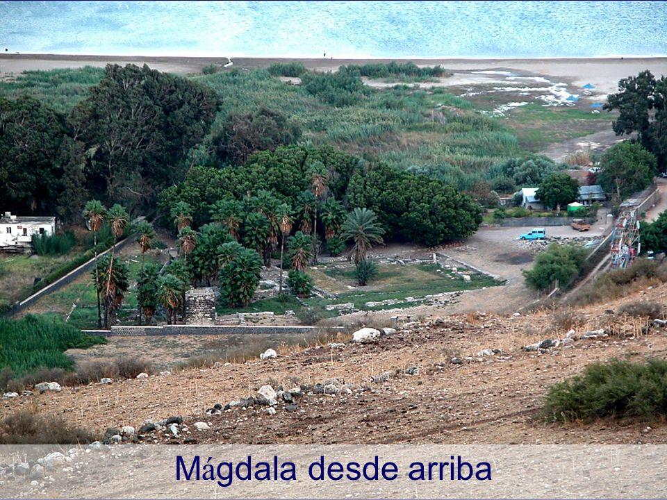 Mágdala desde arriba Magdala from above Magdala in Scripture