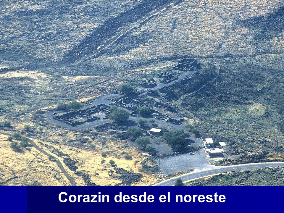 Chorazin aerial from northeast