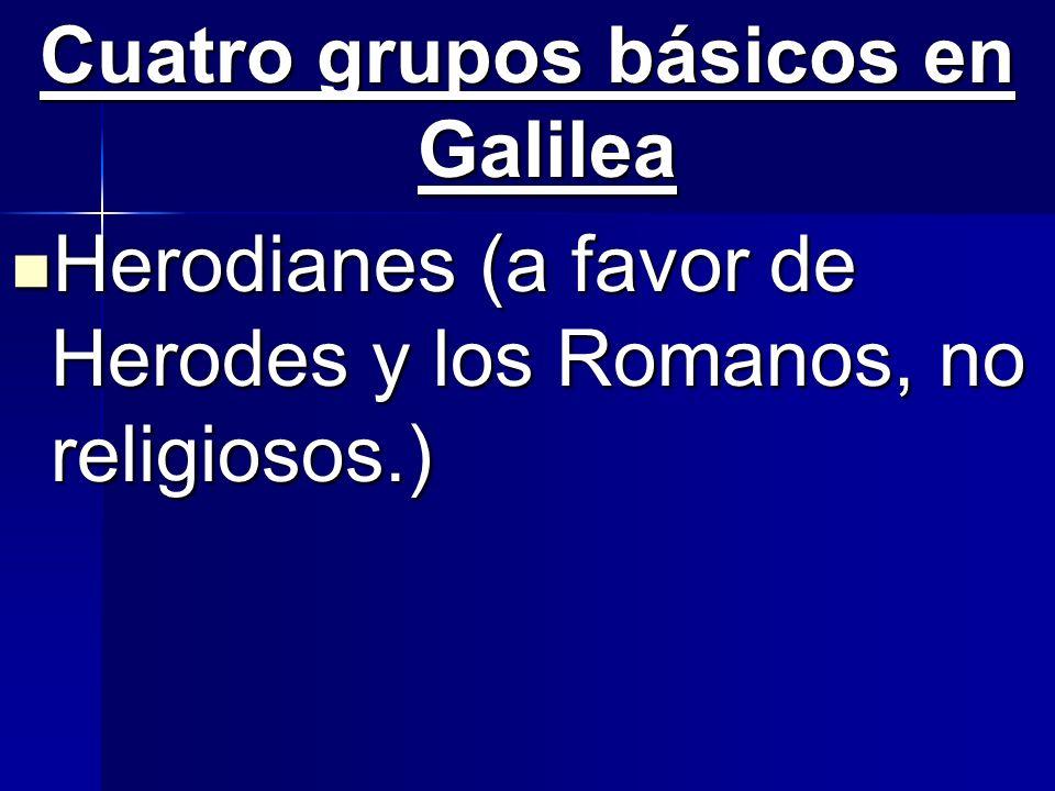 Cuatro grupos básicos en Galilea