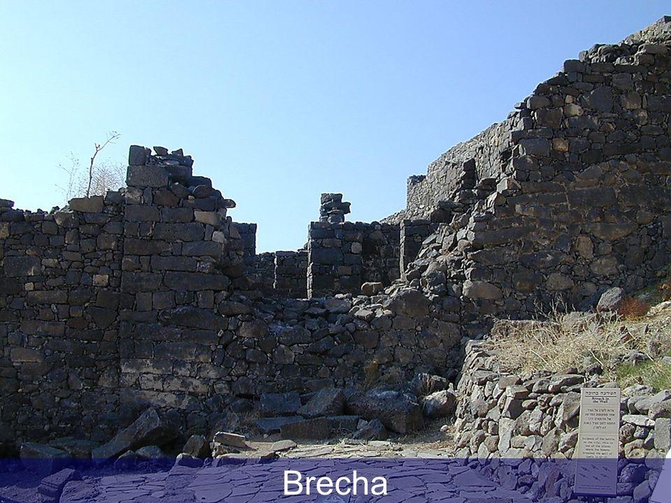 Gamla wall breach by Romans