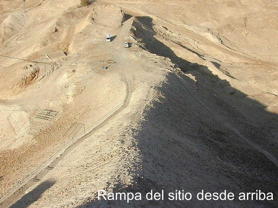 Masada siege ramp from above