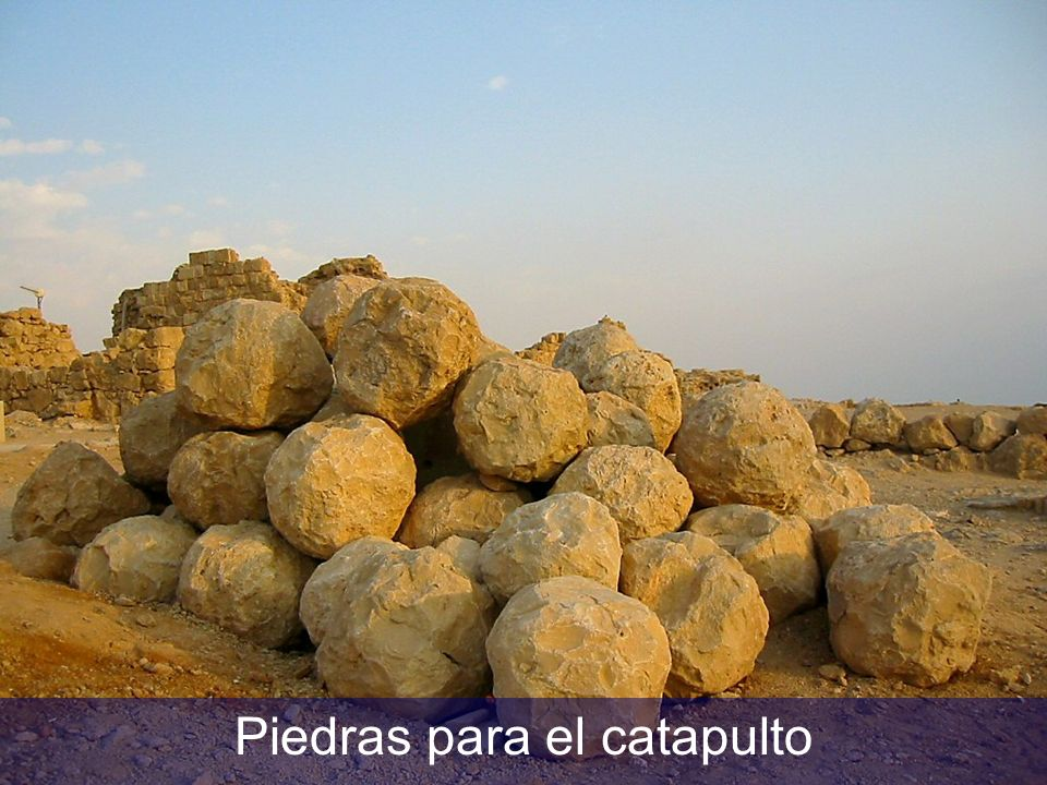 Piedras para el catapulto