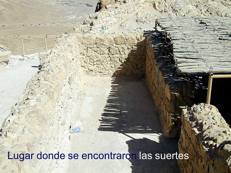 Masada room where lots were found