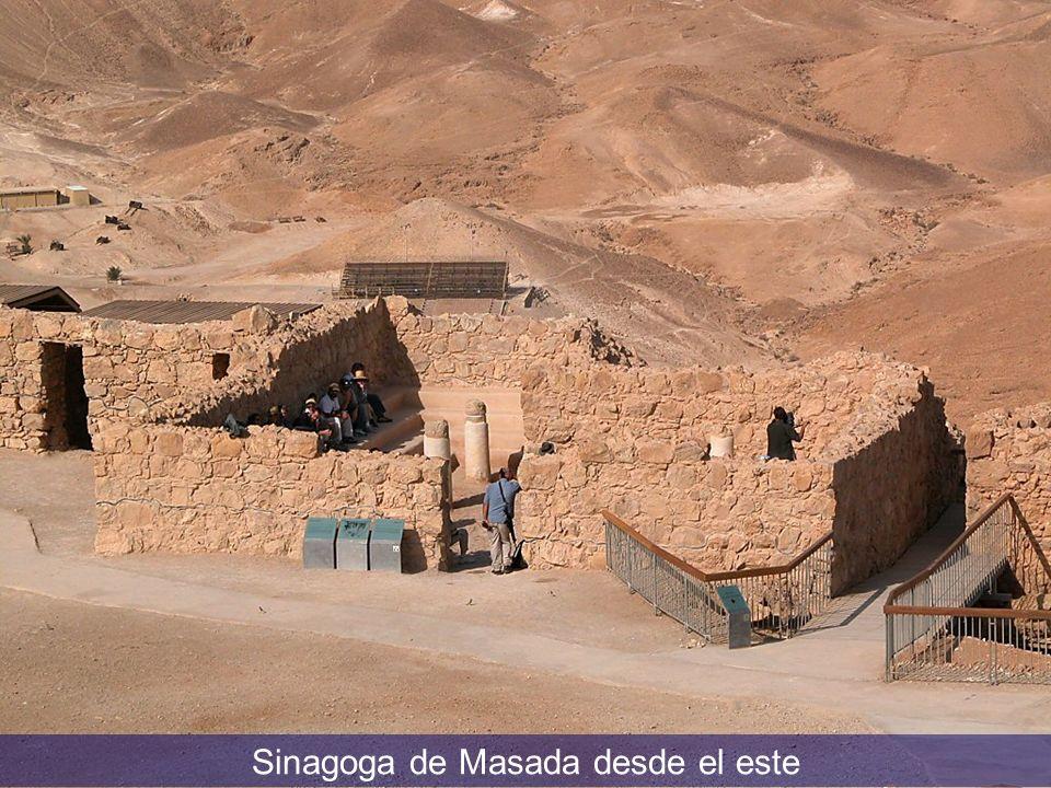 Masada synagogue from east