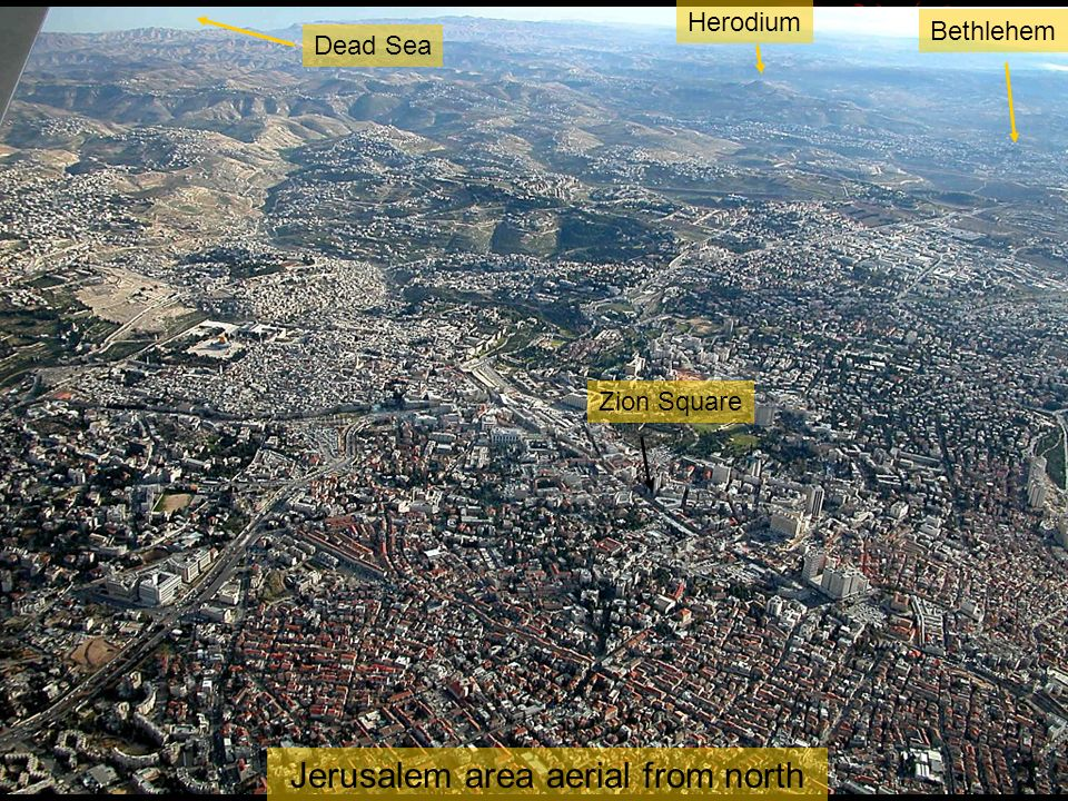 Jerusalem area aerial from north