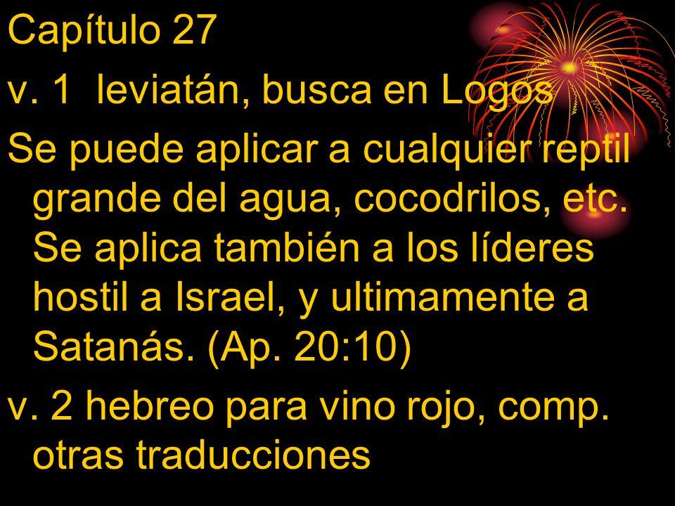 Capítulo 27 v. 1 leviatán, busca en Logos.