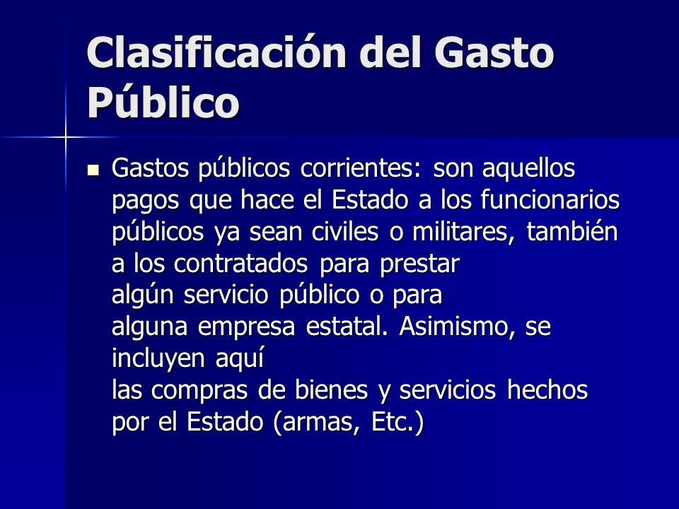 Clasificación del Gasto Público