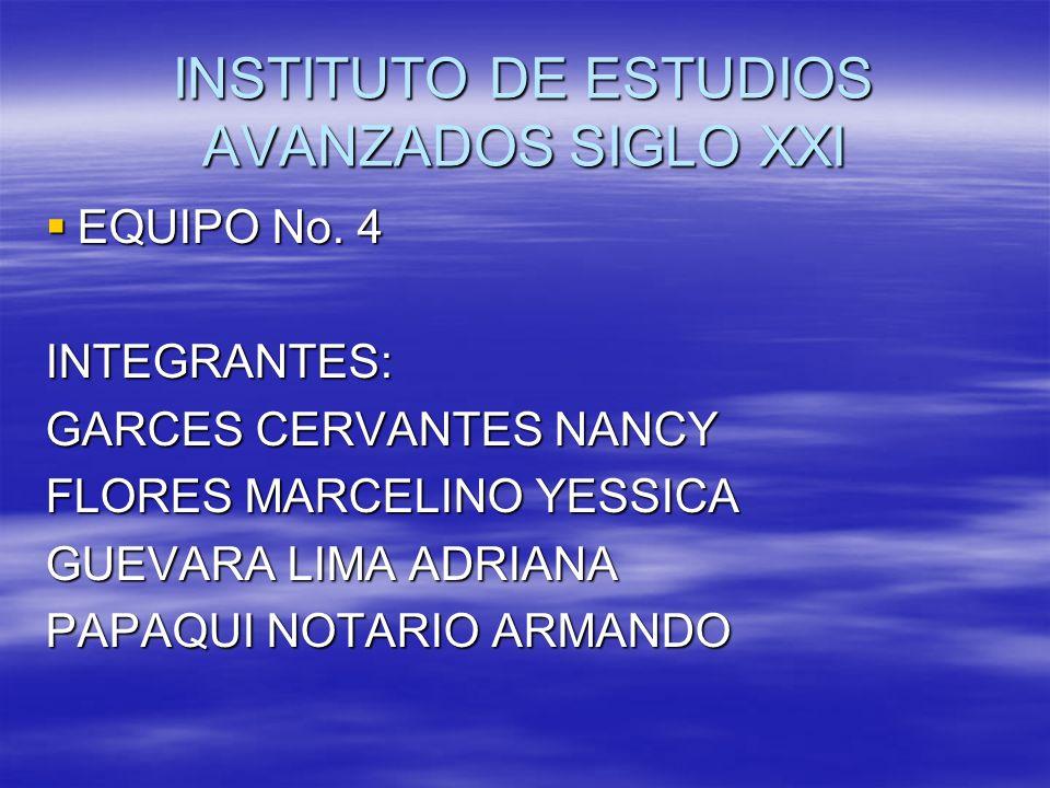 INSTITUTO DE ESTUDIOS AVANZADOS SIGLO XXI