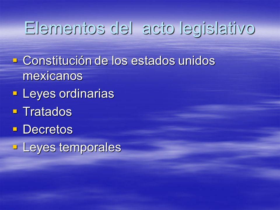 Elementos del acto legislativo