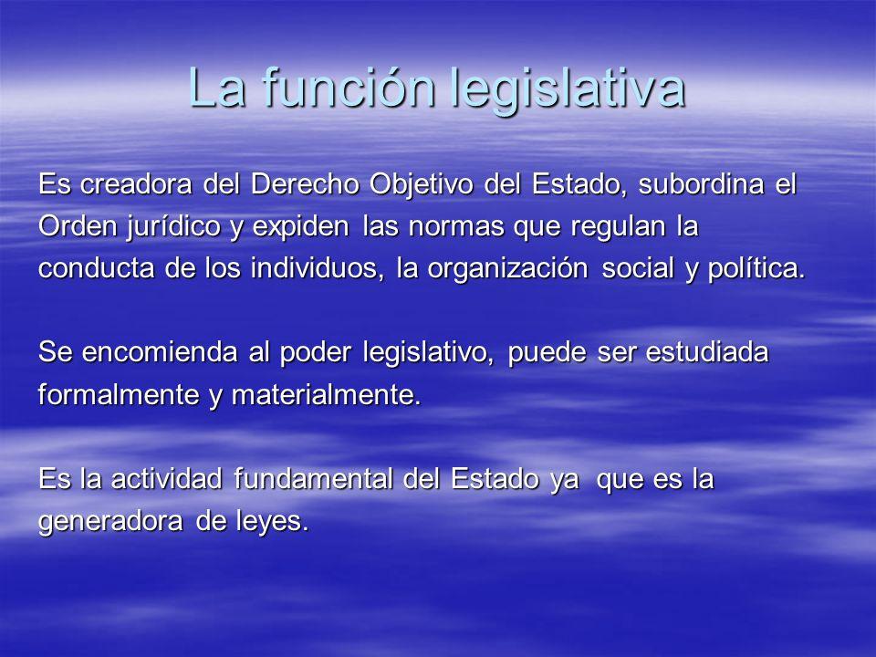 La función legislativa