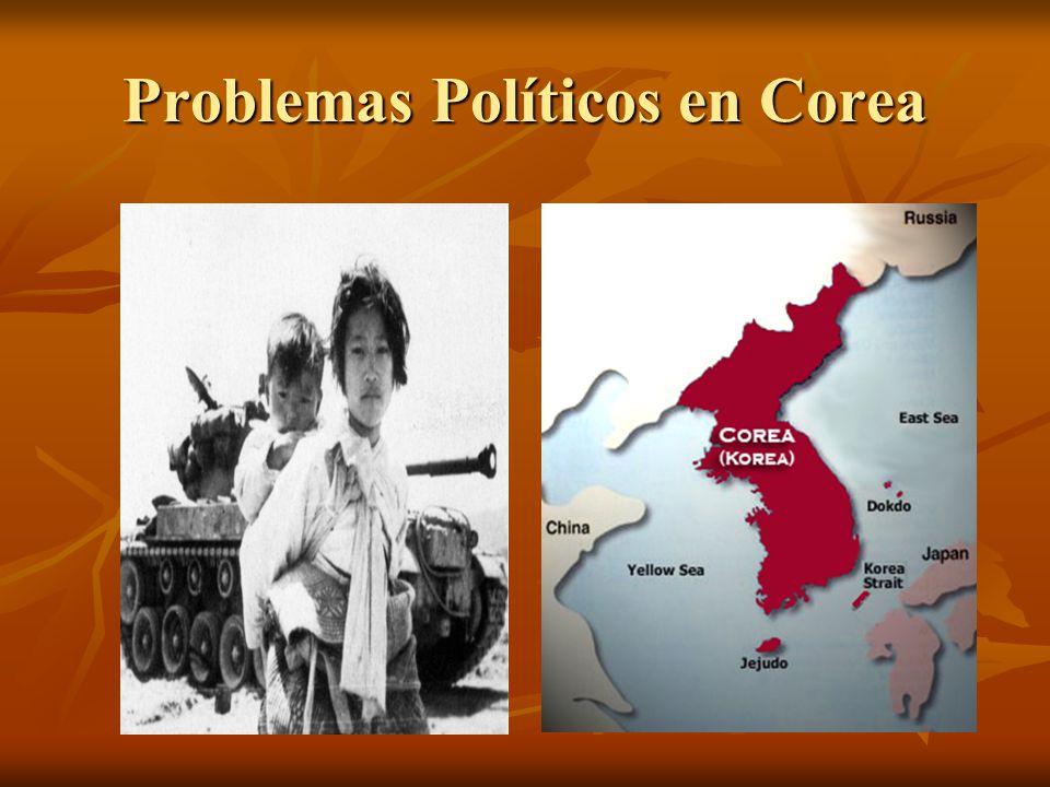 Problemas Políticos en Corea