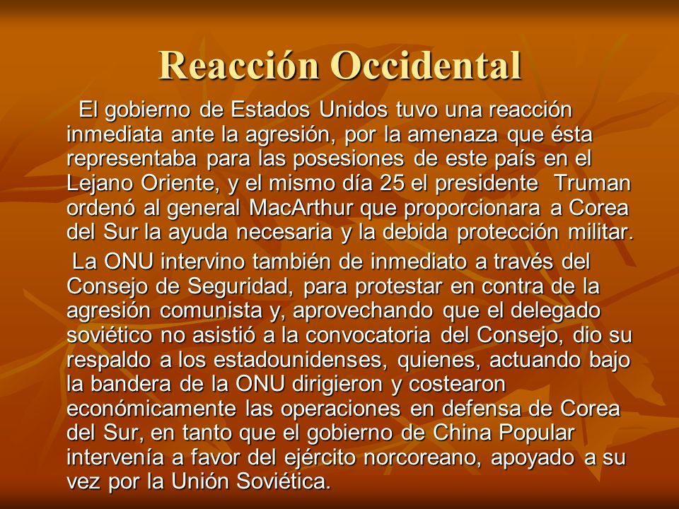 Reacción Occidental