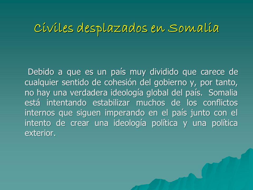 Civiles desplazados en Somalia