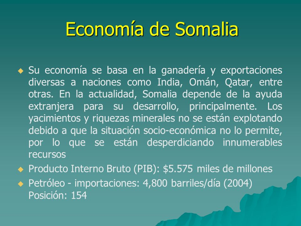 Economía de Somalia