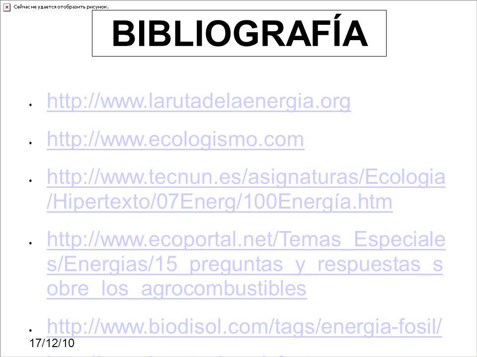 BIBLIOGRAFÍA http://www.larutadelaenergia.org