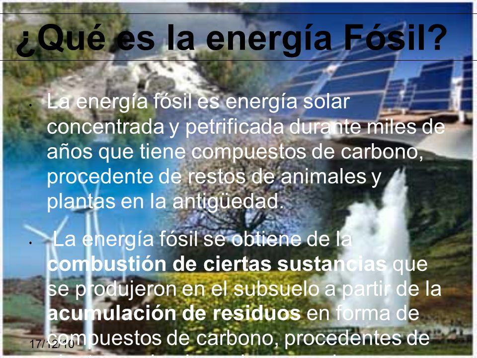 ¿Qué es la energía Fósil