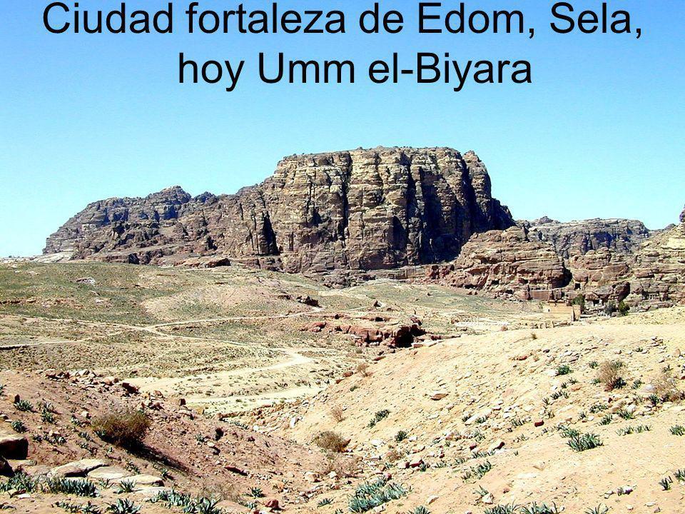 Ciudad fortaleza de Edom, Sela, hoy Umm el-Biyara