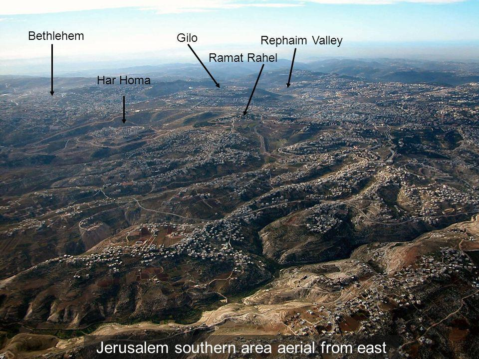 Jerusalem southern area aerial from east