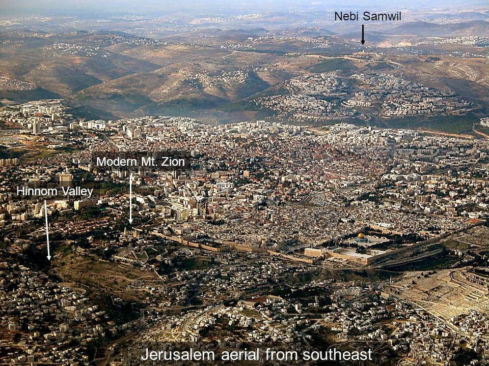Jerusalem aerial from southeast