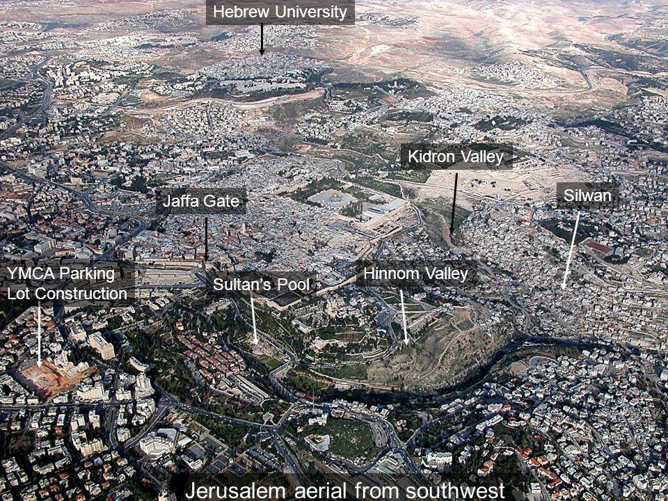 Jerusalem aerial from southwest