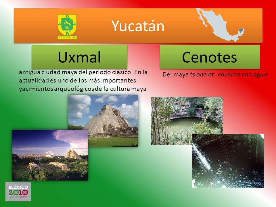 Yucatán Uxmal. Cenotes.
