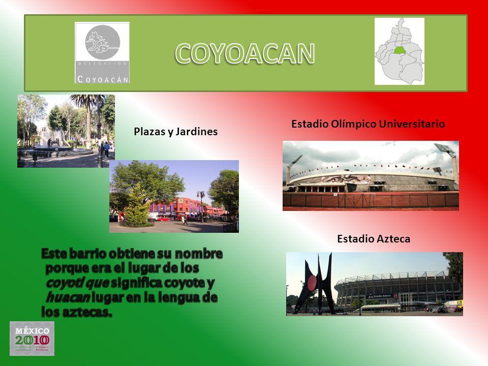 COYOACAN Estadio Olímpico Universitario Plazas y Jardines
