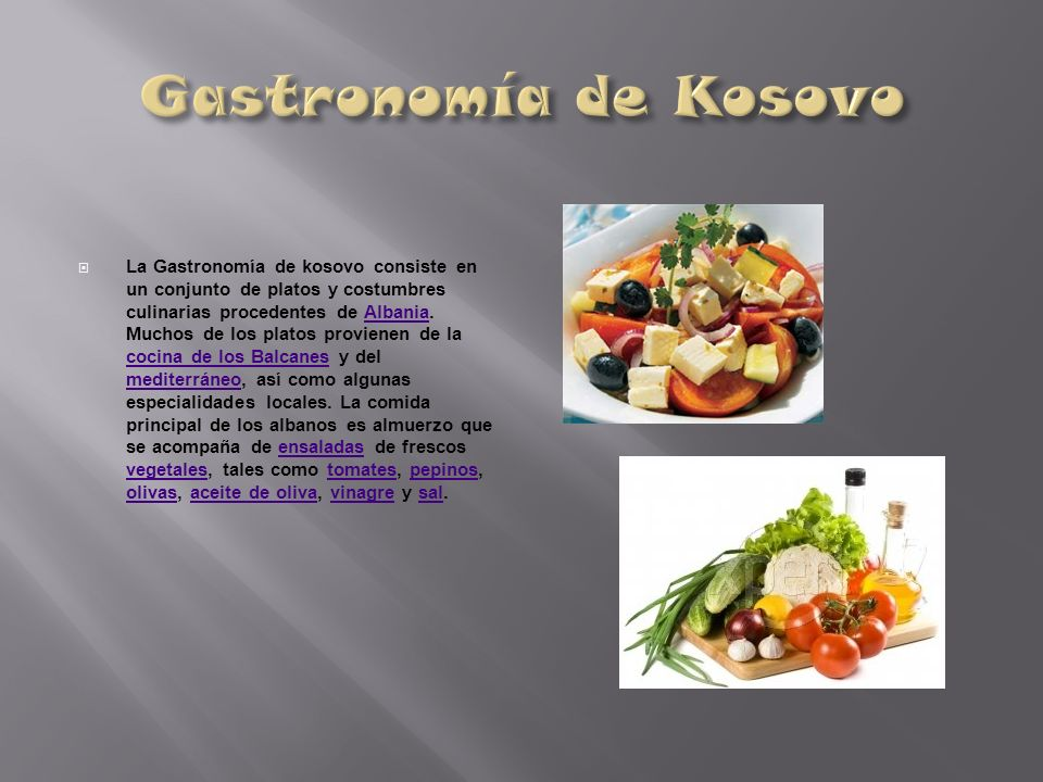 Gastronomía de Kosovo