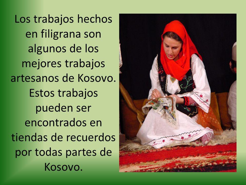 Los trabajos hechos en filigrana son algunos de los mejores trabajos artesanos de Kosovo.