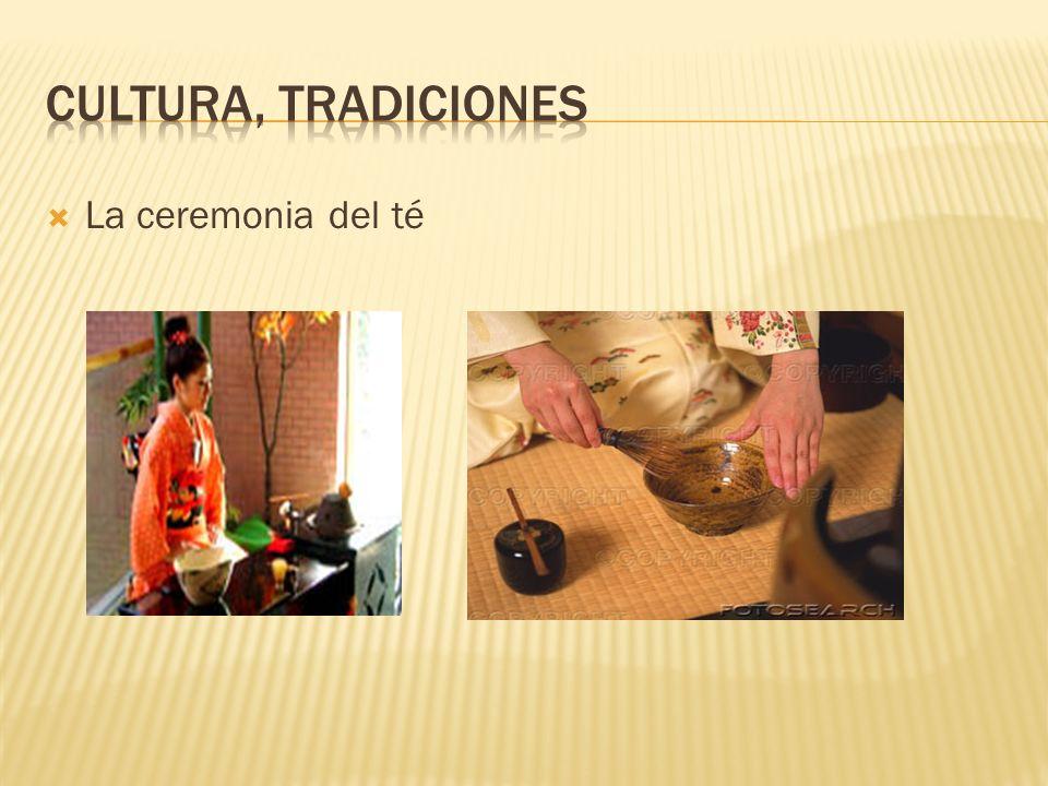 Cultura, tradiciones La ceremonia del té