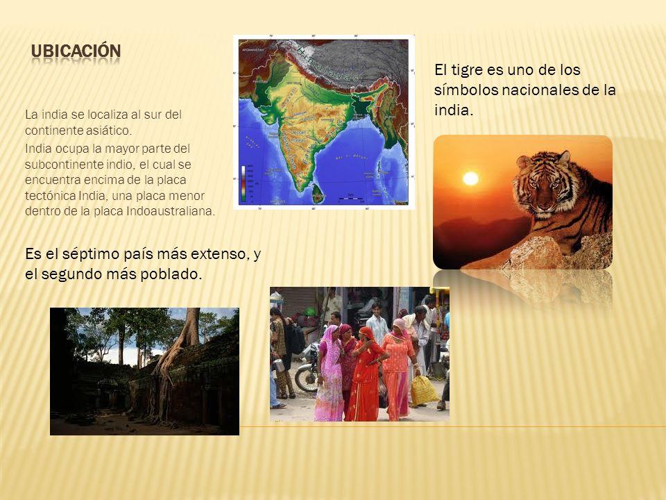 Ubicación El tigre es uno de los símbolos nacionales de la india.