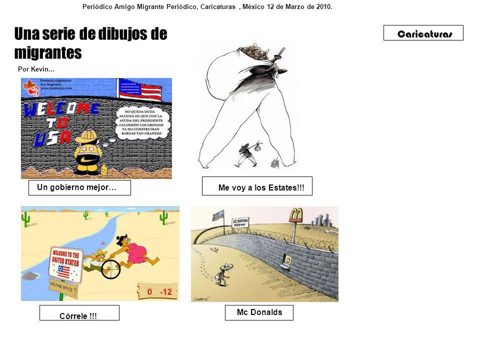 Una serie de dibujos de migrantes