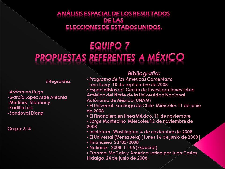 Equipo 7 PROPUESTAS REFERENTES A MÉXICO
