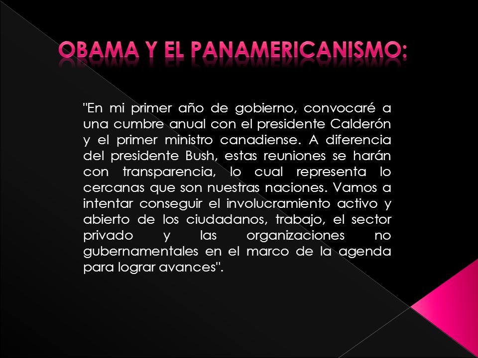 Obama y el panamericanismo: