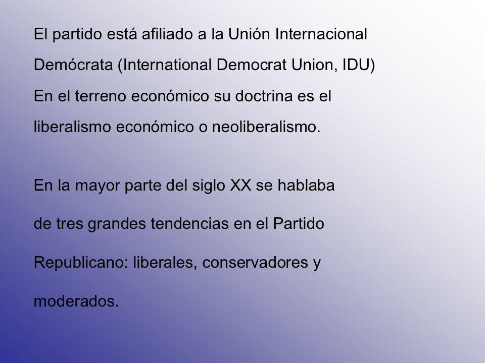 El partido está afiliado a la Unión Internacional