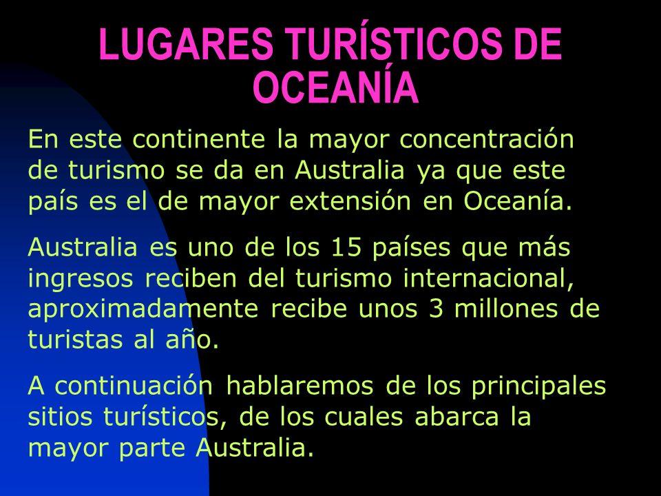 LUGARES TURÍSTICOS DE OCEANÍA