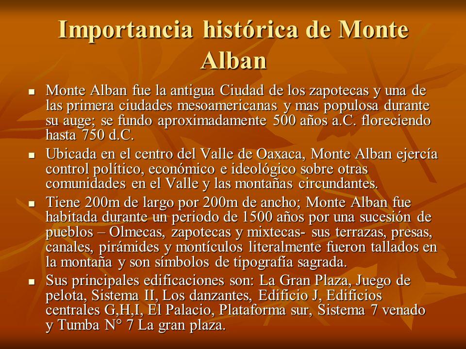 Importancia histórica de Monte Alban