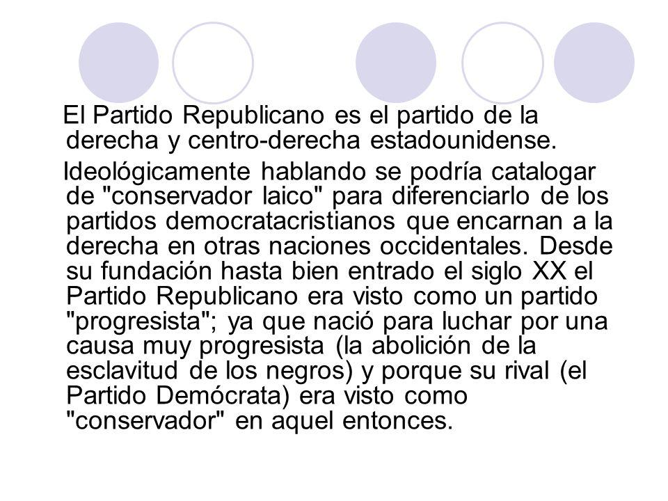 El Partido Republicano es el partido de la derecha y centro-derecha estadounidense.