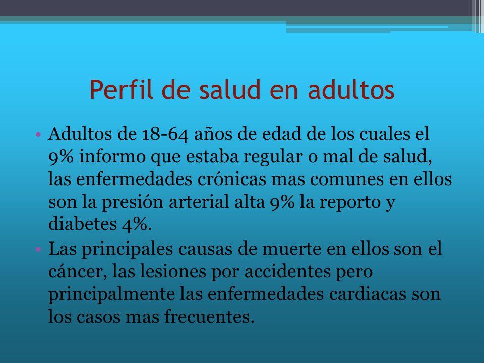 Perfil de salud en adultos