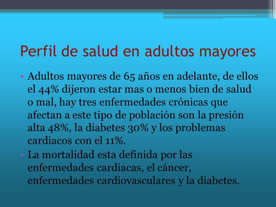 Perfil de salud en adultos mayores