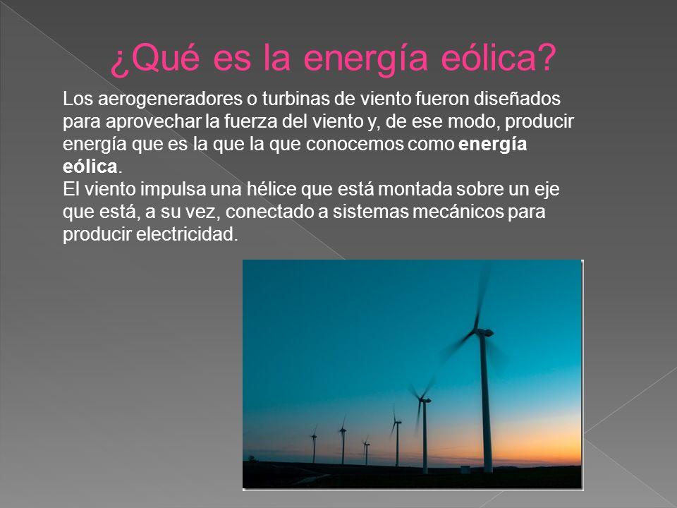 ¿Qué es la energía eólica