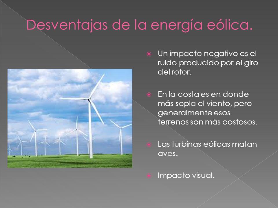 Desventajas de la energía eólica.