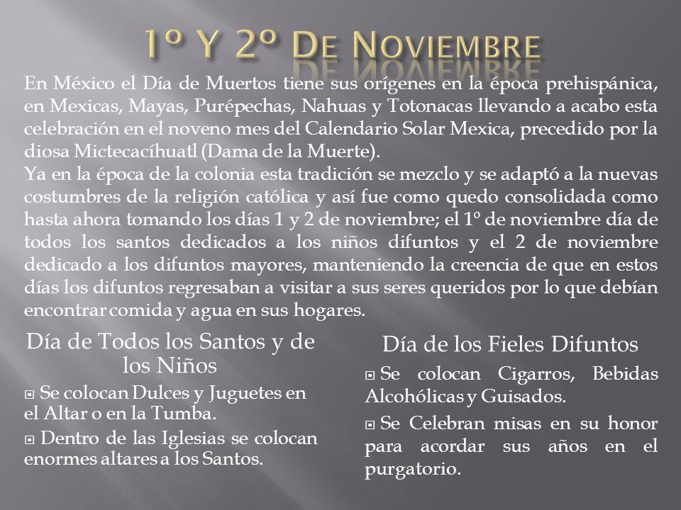1º Y 2º De Noviembre Día de Todos los Santos y de los Niños