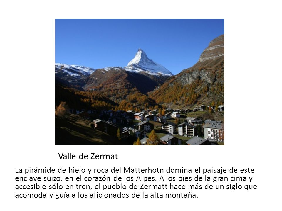 Valle de Zermat