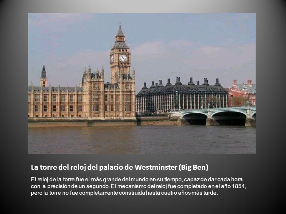 La torre del reloj del palacio de Westminster (Big Ben)