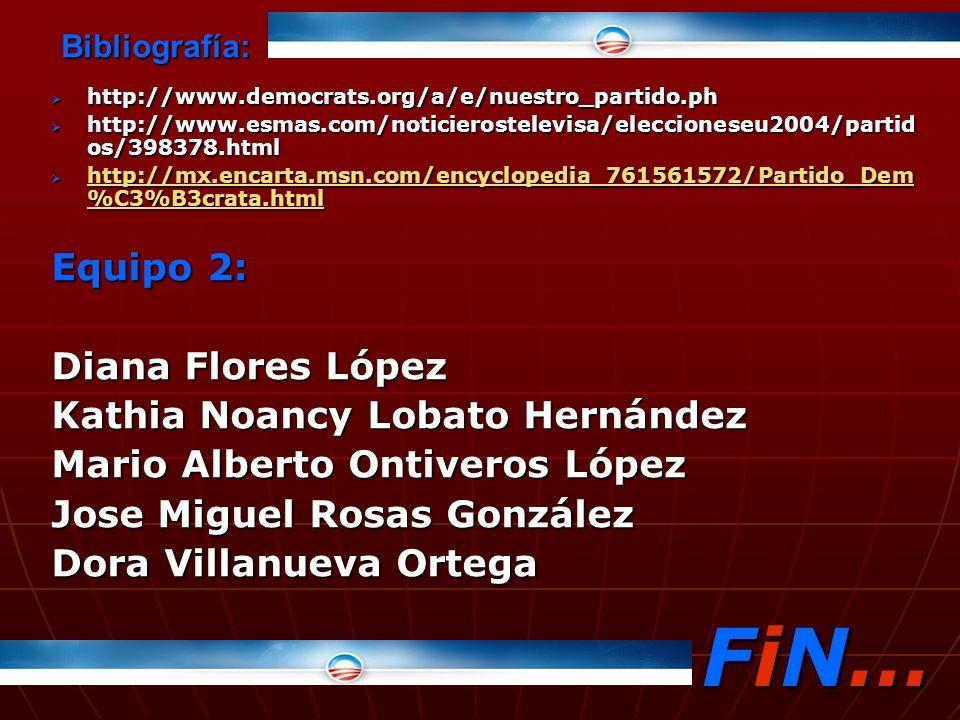 FiN… Equipo 2: Diana Flores López Kathia Noancy Lobato Hernández