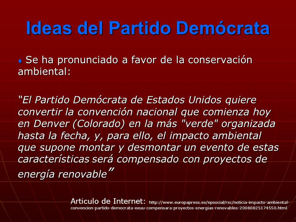 Ideas del Partido Demócrata