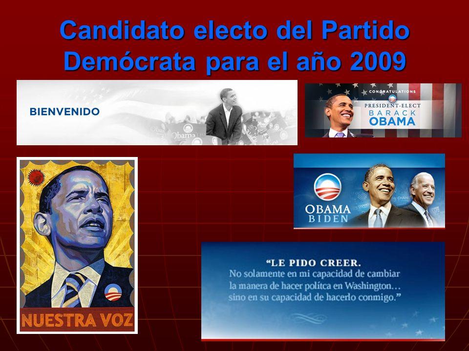 Candidato electo del Partido Demócrata para el año 2009