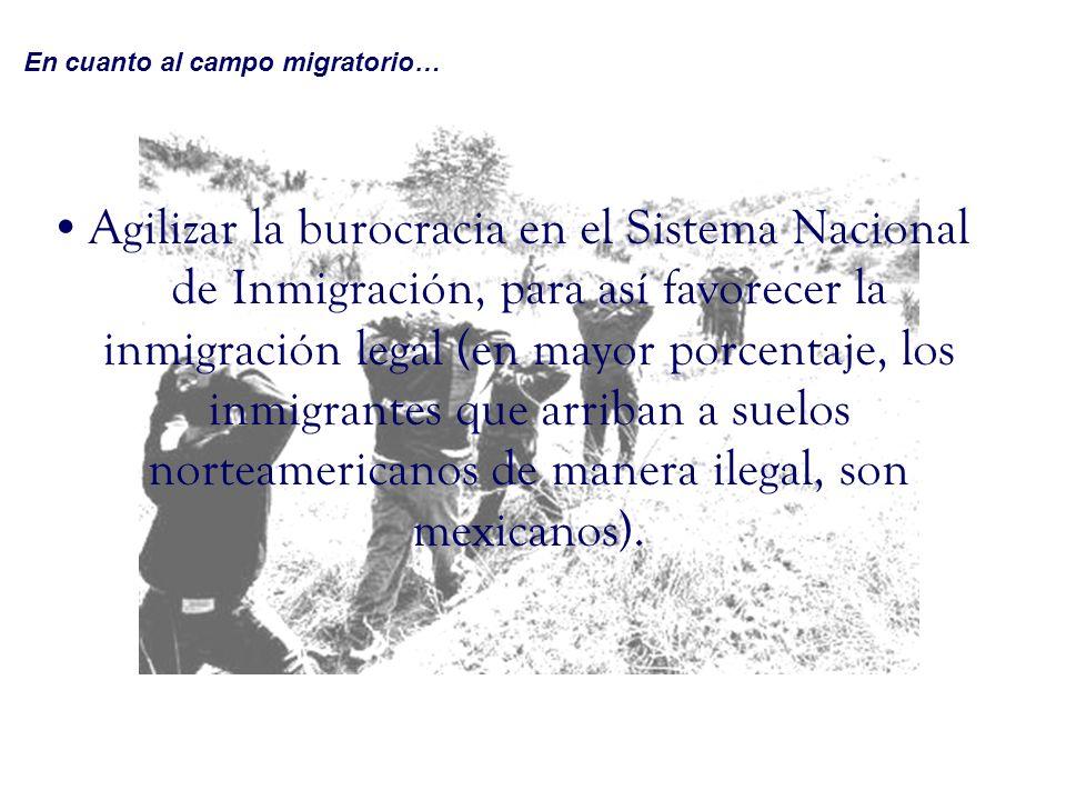 En cuanto al campo migratorio…