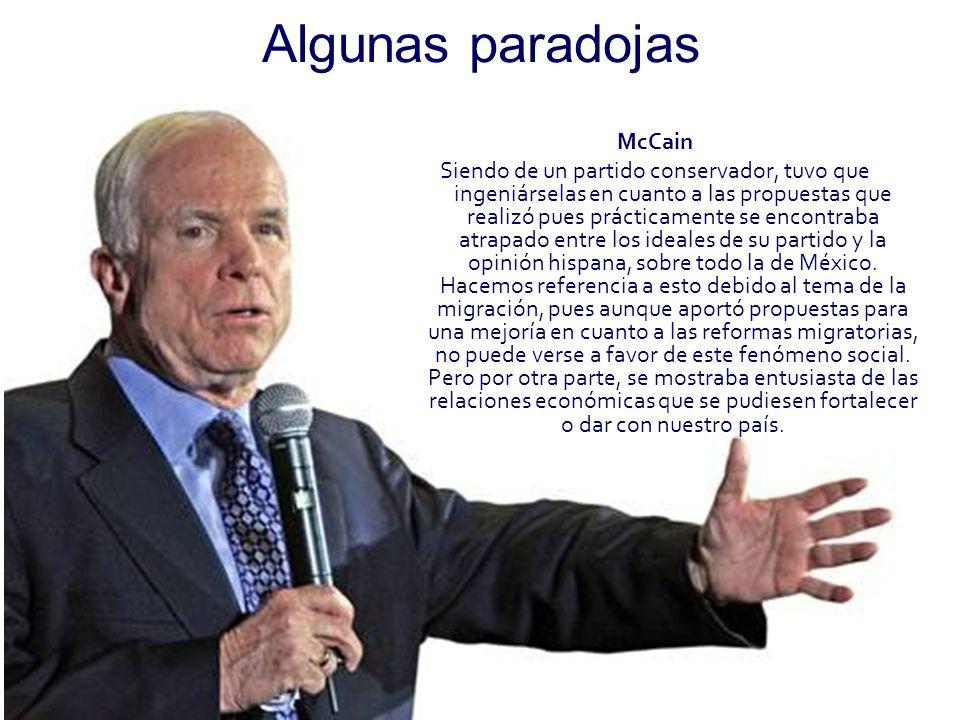 Algunas paradojas McCain