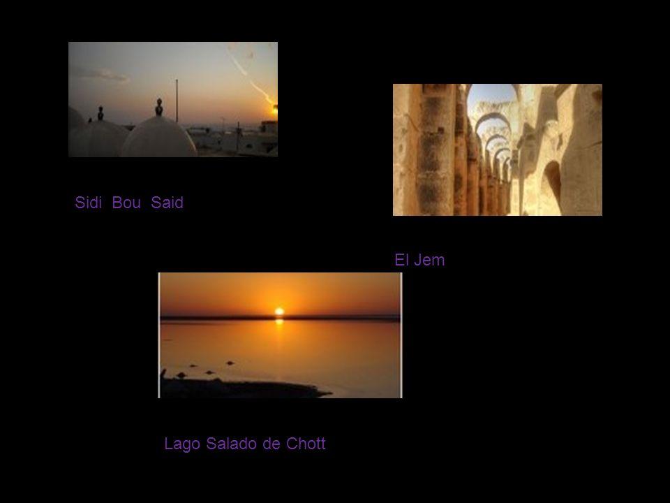 Sidi Bou Said El Jeml Lago Salado de Chott